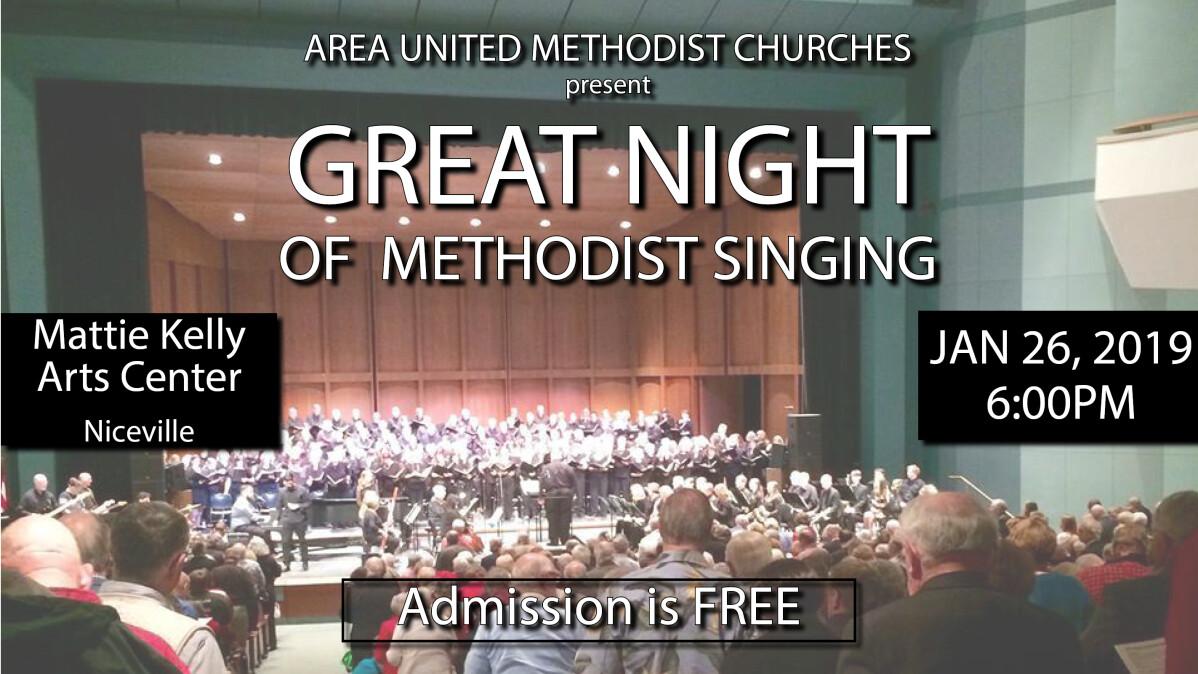 Great Night of Methodist Singing